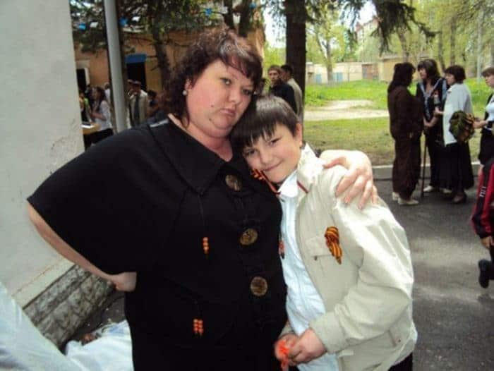 Ольга Картункова с сыном