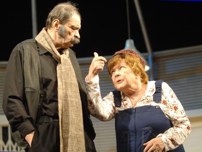 Илья Олейников на спектакле в театре