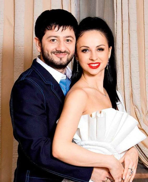 Михаил Галустян с женой Викторией Штефанец