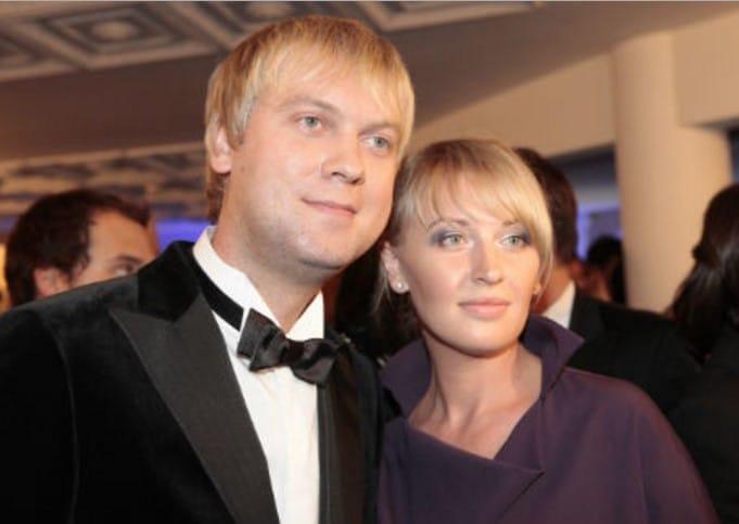 Сергей Светлаков с первой женой Юлией Маликовой