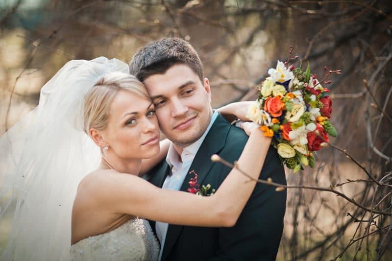 Анна Хилькевич с первым мужем Антоном Покрепой