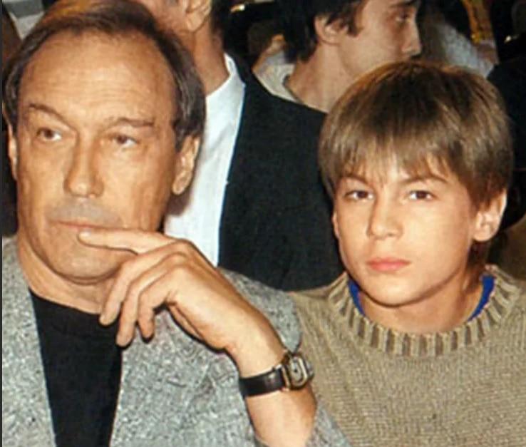 Иван Янковский в детстве с дедушкой Олегом Янковским