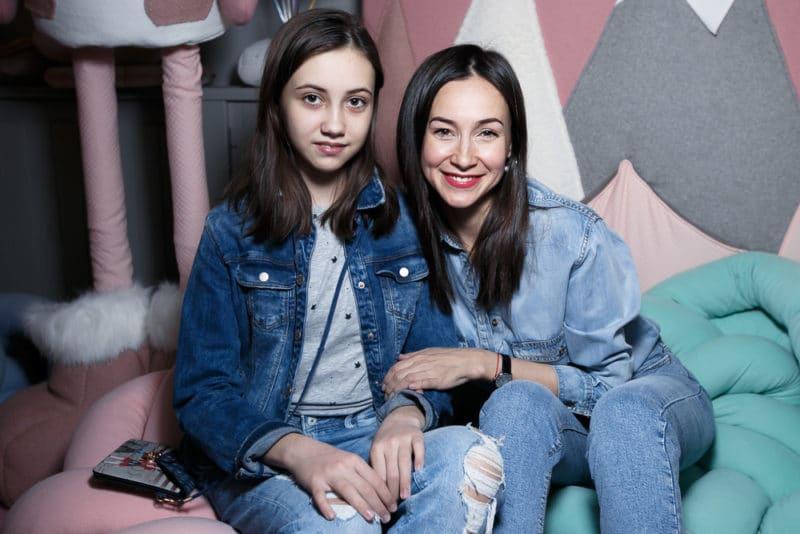Ольга Филиппова с дочкой