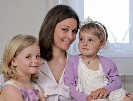 Александра Урсуляк с детьми