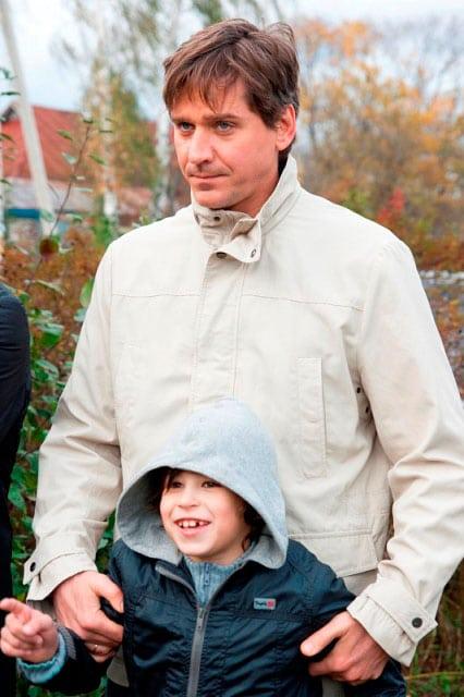 Юрий Батурин с сыном Богданом