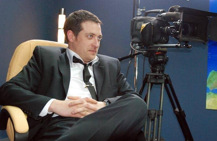 Кирилл Сафонов на съемочной площадке