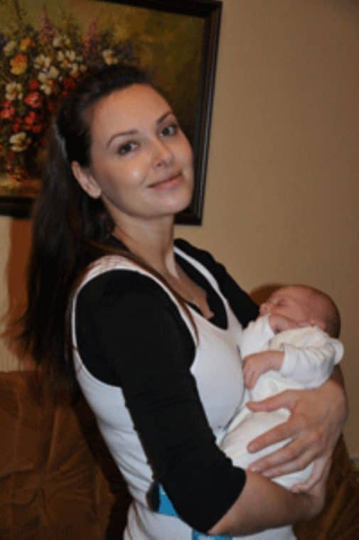 Ольга Фадеева с ребенком