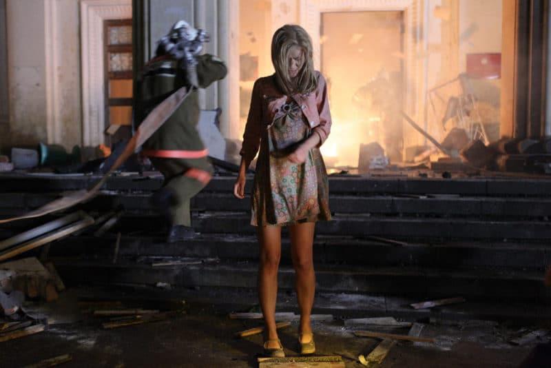 Светлана Иванова на съемках фильма «Август. Восьмого»