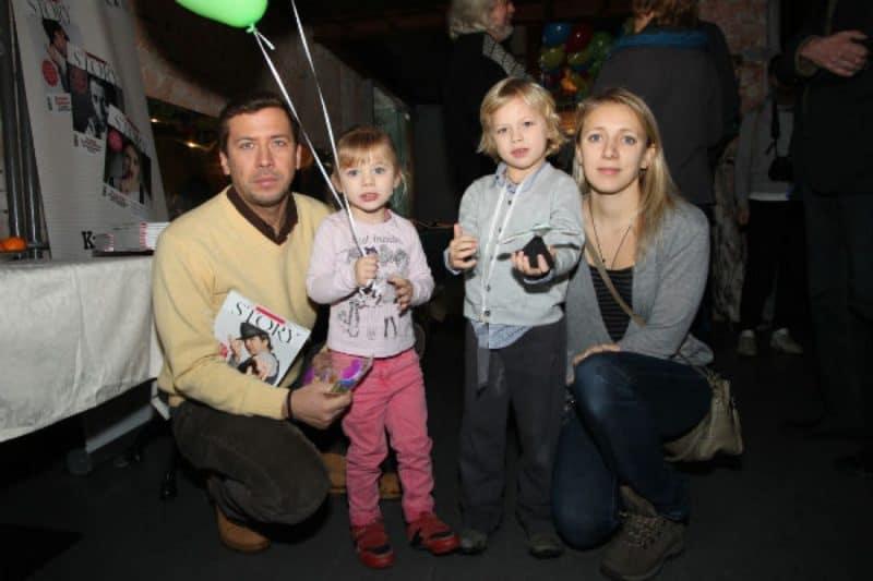 Андрей Мерзликин с женой и детьми
