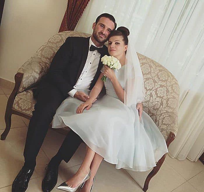 Агния Кузнецова с мужем Максимом Петровым