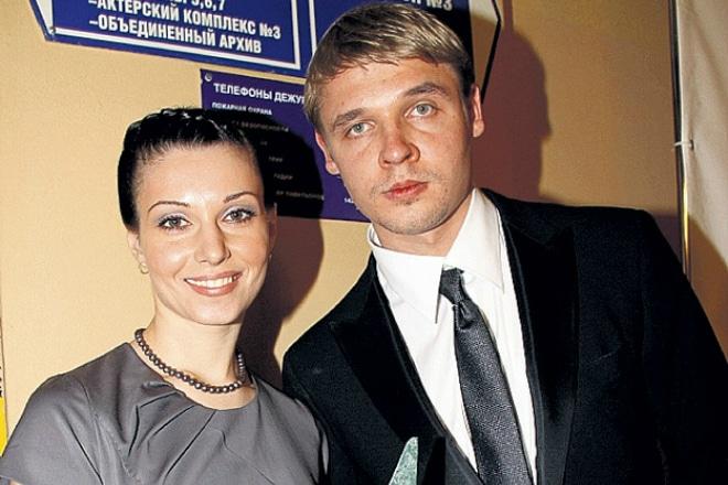 Александра Урсуляк с первым мужем Александром Голубевым