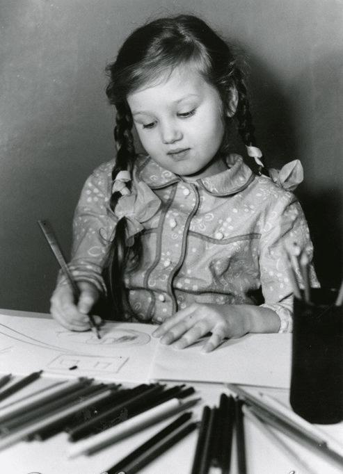 Ирина Климова в детстве