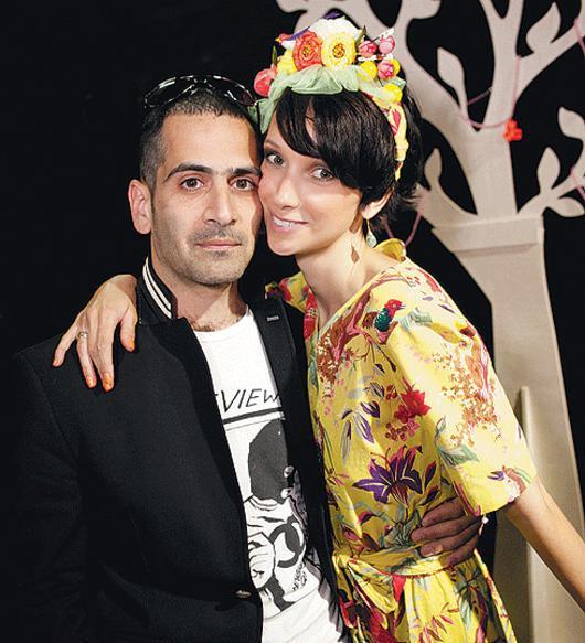 Анастасия Цветаева с Олегом Гончаровым