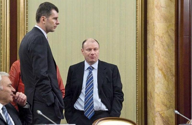 Михаил Прохоров с Виктором Потаниным