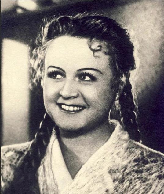 Татьяна Окуневская в молодости