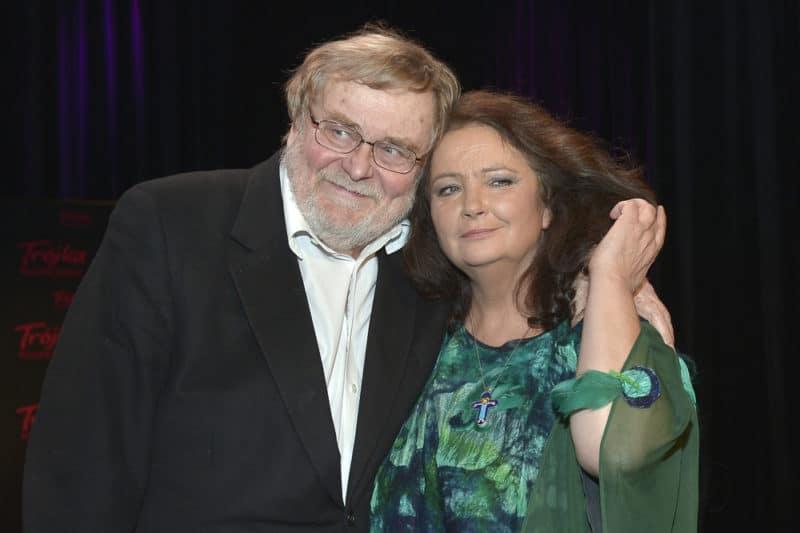Анна Дымна с третим мужем Кшиштофом Оржеховский