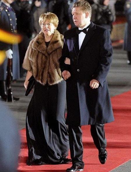 Алексей Миллер с женой Ириной