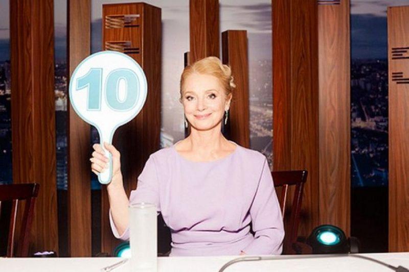 Галина Беляева в жюри передачи «Танцев со звездами»