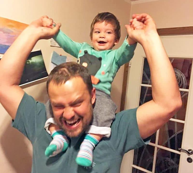 Кирилл Плетнев с сыном