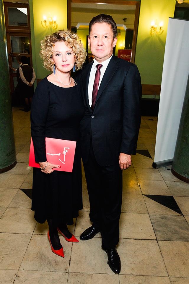 Алексей Миллер с Мариной Ентальцевой