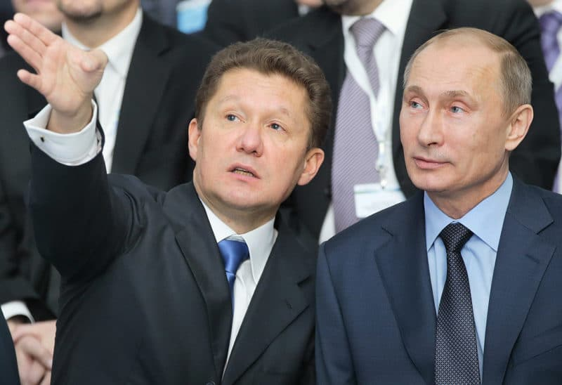Алексей Миллер с Путиным
