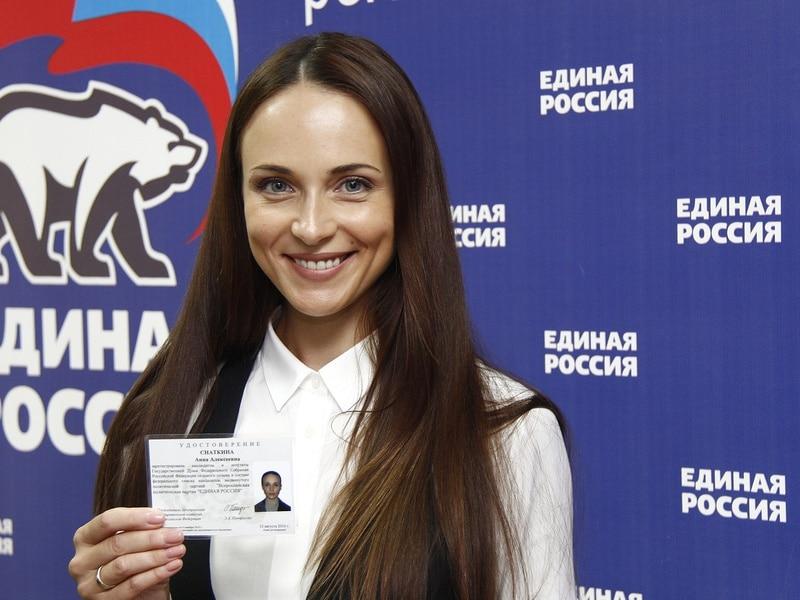 Анна Снаткина в качестве депутата от единой «Единой России»