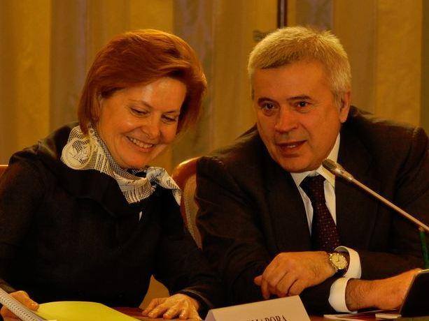 Вагит Алекперов с женой Ларисой