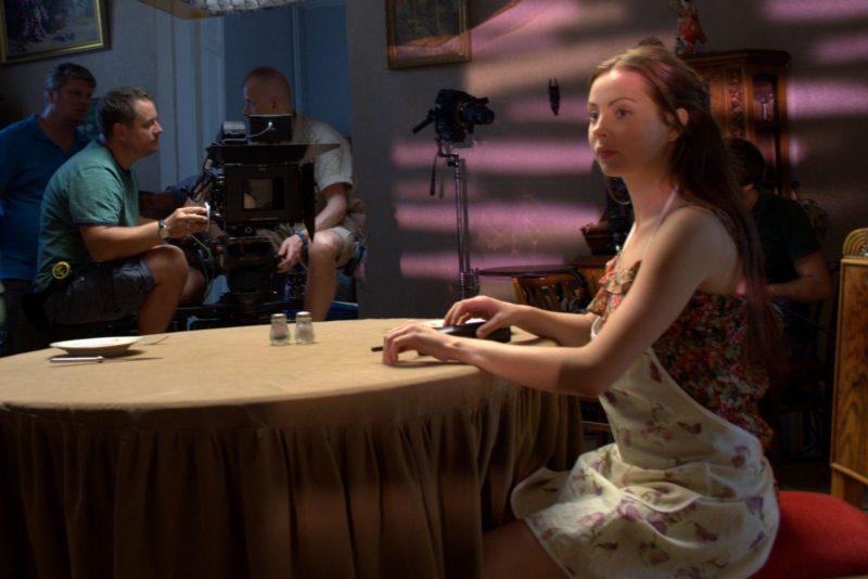 Валерия Ходос на съемках фильма «Ветренная женщина»