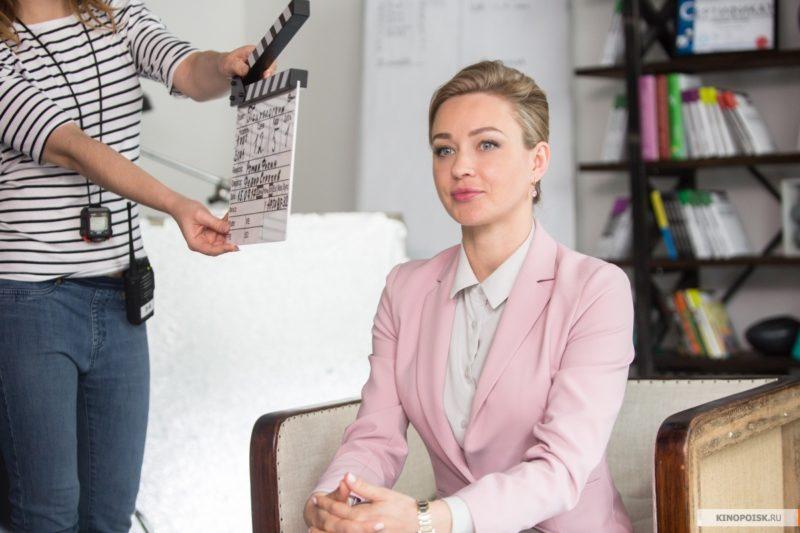 Анастасия Панина на съемках сериала «Психологини»