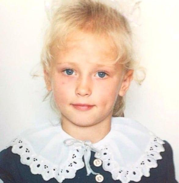 Анна Кошмал в детстве