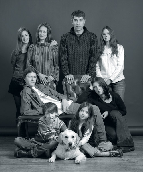 Илья Сегалович с семьей