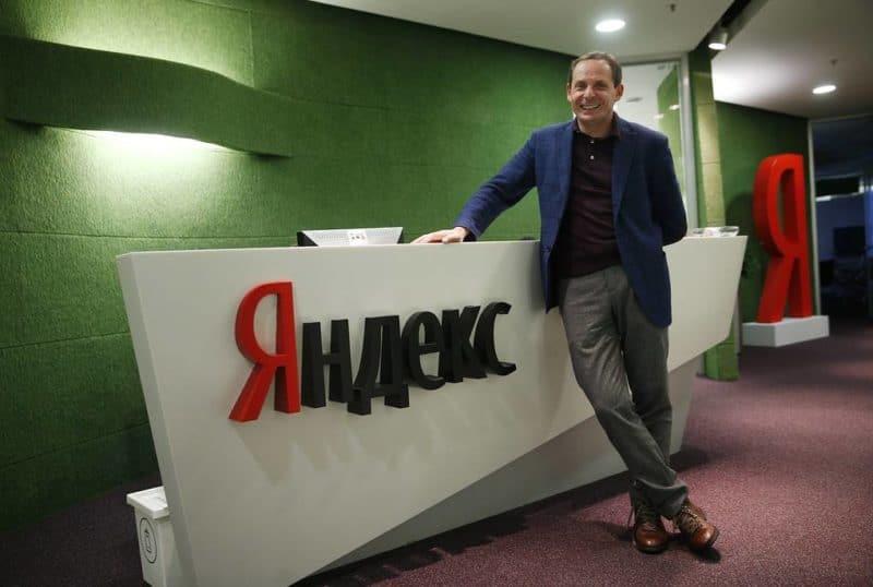 Аркадий Волож в офисе Яндекса