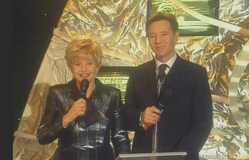 Евгений Меньшов ведущий передачи «Песня года»