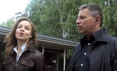 Андрей Комаров с женой Анной Левитанской