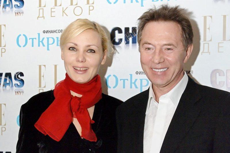 Евгений Меньшов и его третья жена Ольга Грозная