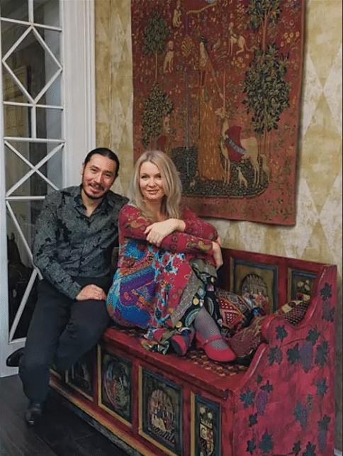 Анастасия Немоляева с мужем Вениамином Скальником