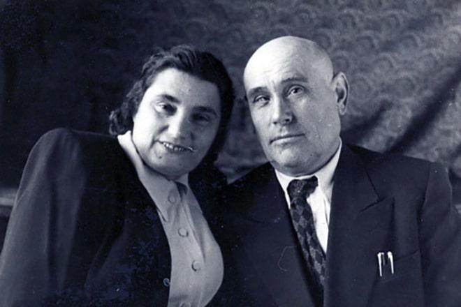 Евгения Гинзбург с Антоном Вальтером