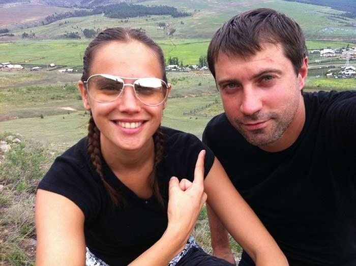 Евгения Серебренникова с мужем Виталием Емашовым