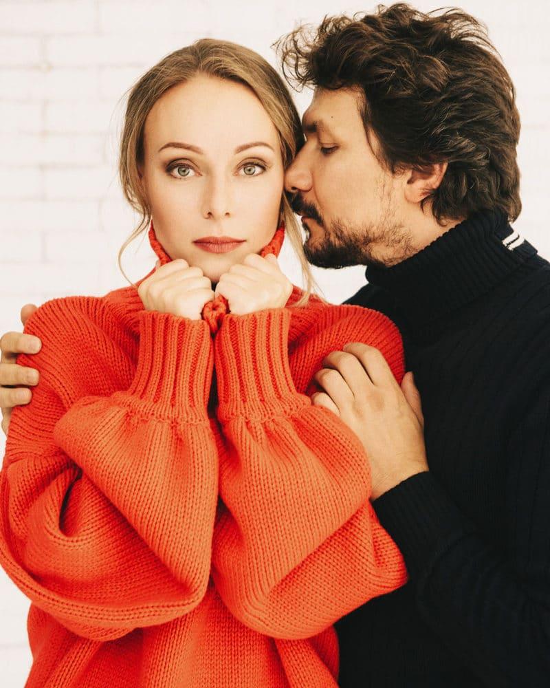 Павел Сафонов с женой Ольгой Ломоносовой