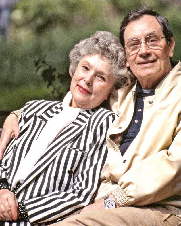 Владимир Ушаков с женой Верой Васильевой