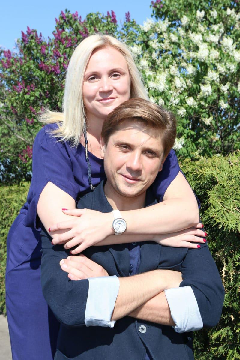 Роман Маякин с женой Еленой