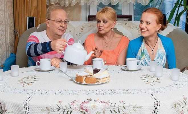 Ирина Шевчук с Александром Афанасьевым и дочерью