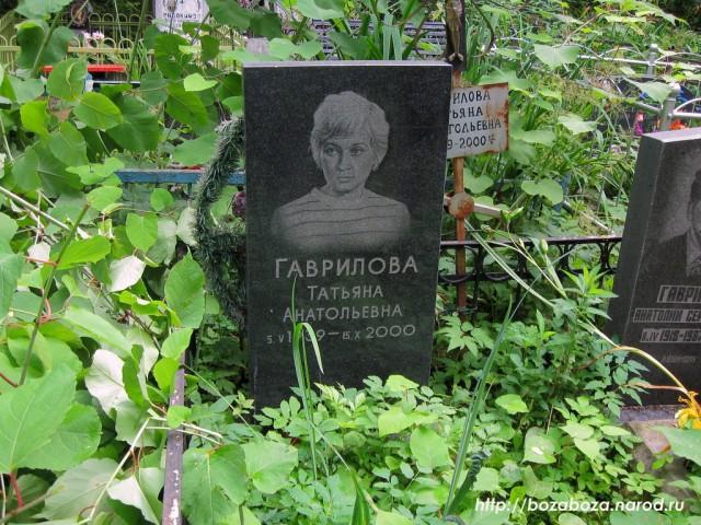 Могила Татьяны Гавриловой