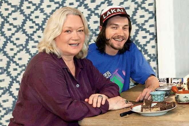 Людмила Полякова с сыном