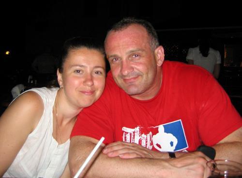 Алексей Огурцов с женой  Еленой