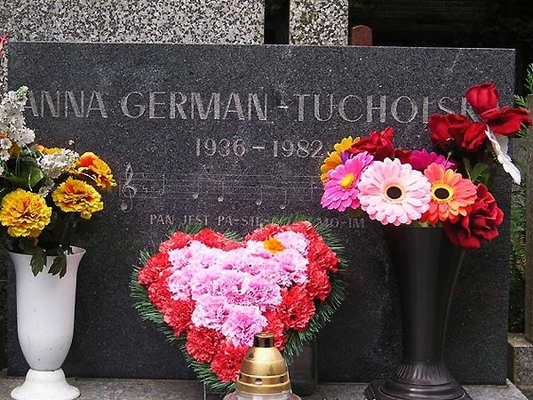 Памятник на могиле Анны Герман