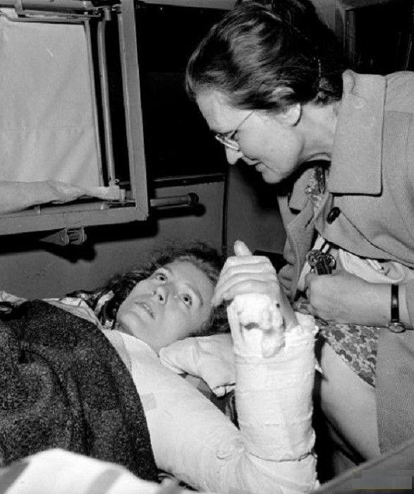Анна Герман после автокатастрофы