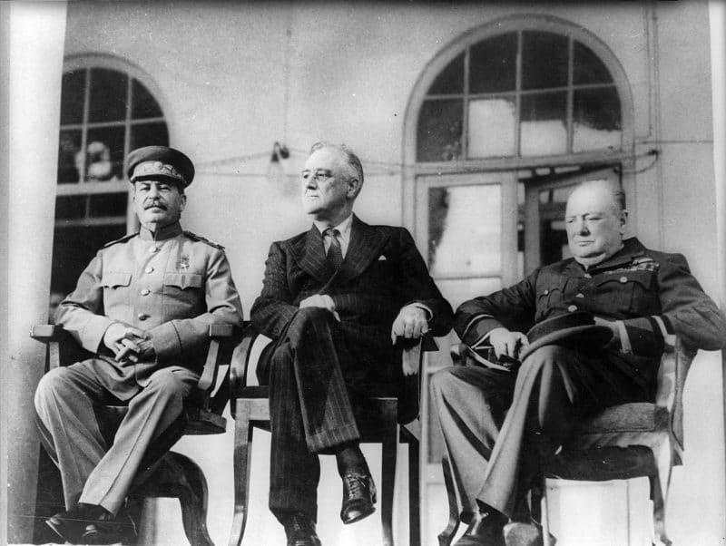 Сталин Рузвельт и Черчилль