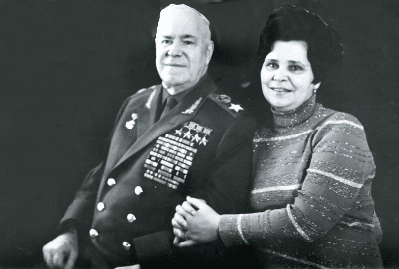 Георгий Жуков с женой Галиной