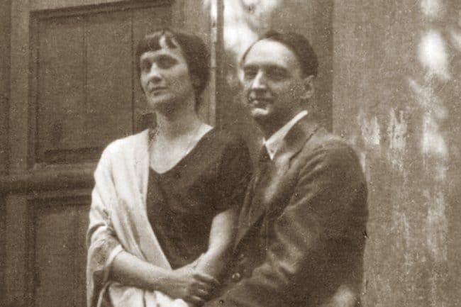 Анна Ахматова с третим мужем Николаем Пуниным